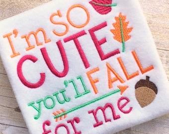 Fall Embroidery Design -Fall Applique Design - Embroidery Saying - Applique Design - Embroidery Design