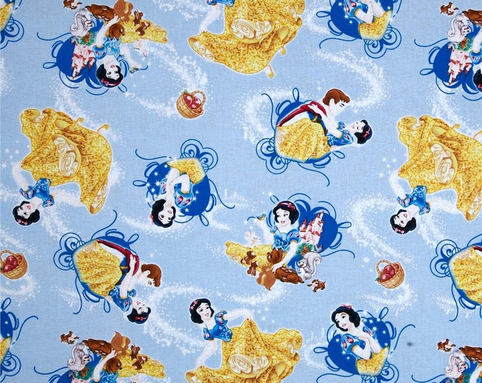 Springs Creative - Disney Snow White with Animal Friends - Cotton Woven Fabric
