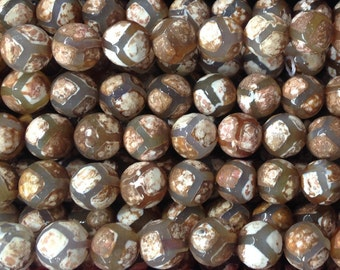 3 Full Strands 10mm  Agate  Faceted Beads   Wholesale  Gemstone