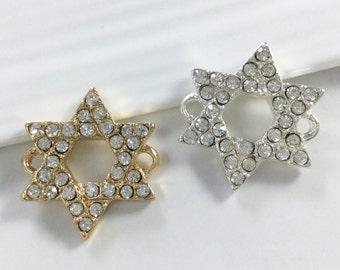10 pcs   Rhinestone  Star Of David Connectors Star of David Necklace