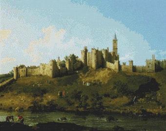 Alnwick Castle PDF Cross Stitch Pattern