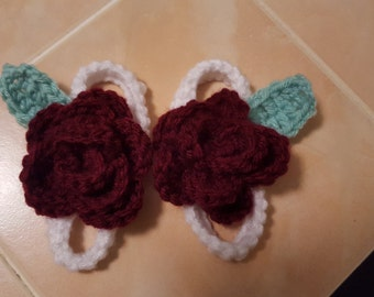 Beautiful crochet baby sandals