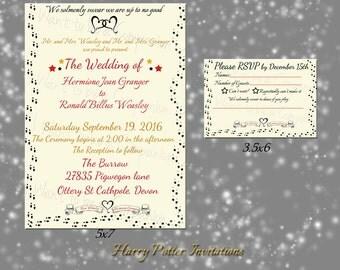 marauders map wedding invitation | etsy, Wedding invitations