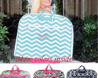 Beautiful, Personalized Garment Bag.- Aqua Chevron Back in stock!