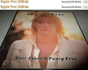 Save 30% Today Vintage 1977 LP Record Rod Stewart Foot Loose & Fancy Free Excellent Condition with Original Book 2848
