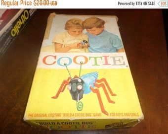Save 25% Today Neat 1949 Vintage Schaper The Game of Cootie Original Box Nearly Complete