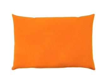 Cushion cover UNI orange canvas 40 x 60 cm