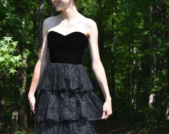 Black Mini Dress - Vintage Jolie Madame