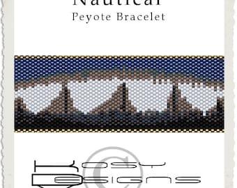 Nautical Peyote Bracelet Tutorial