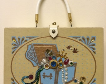 Vintage 50s princess jewellery box bag