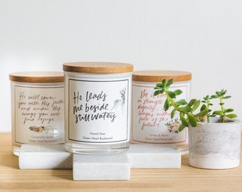 Bible Scripture Soy Wax Candles