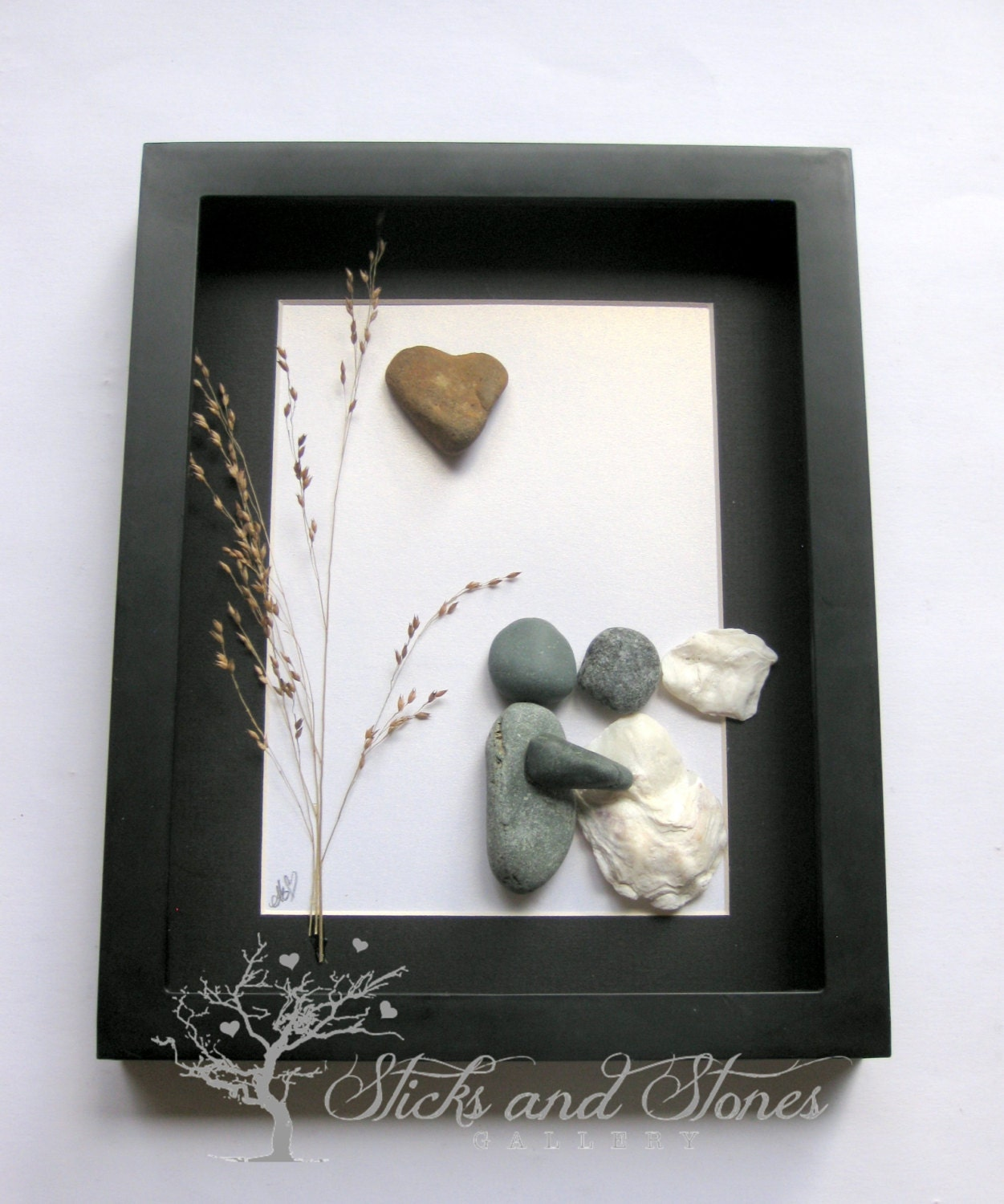 Unique Engagement Gift Pebble Art Wedding Gift Bridal Shower