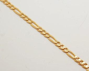 "4.2 mm 14k Gold Figaro Chain 21"""