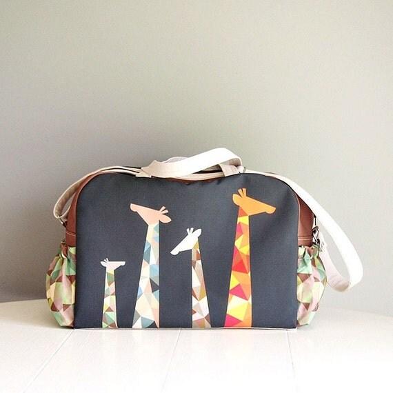 big diaper bag nappy bag boy diaper bag giraffes big. Black Bedroom Furniture Sets. Home Design Ideas