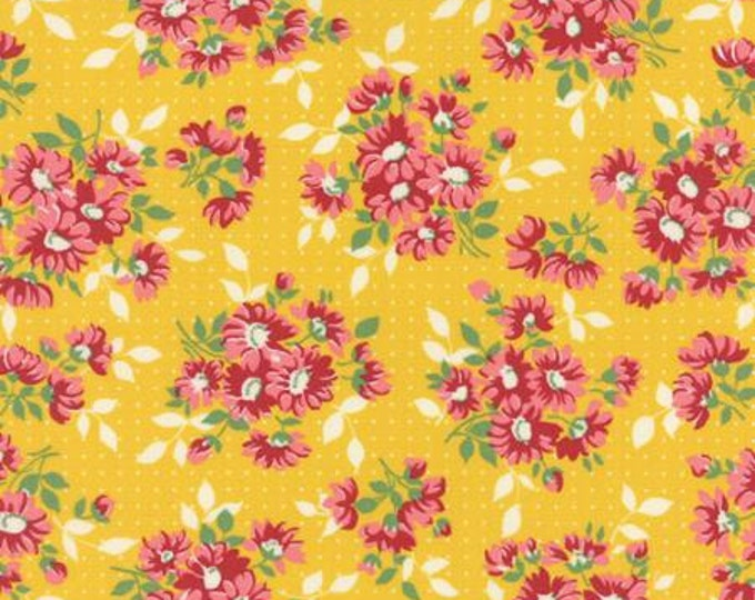 Bread n Butter Dotted Daisy Yellow - 1/2yd
