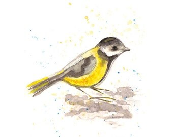 Watercolor Bird, Bird Art, Watercolor Painting, Nature Print, Bird Artwork, Nursery Decor, Art for Child, Kids room art
