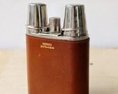 Flasque métal et cuir av...