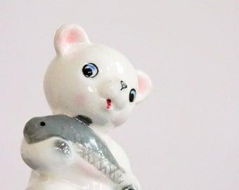 Miniature vintage bear cub figurine