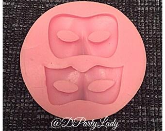 Mask masquerade ball Mardi Gras eye silicone mold candy chocolate fondant flexible