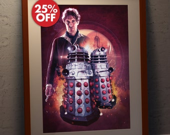 Doctor Who Paul McGann Daleks Poster