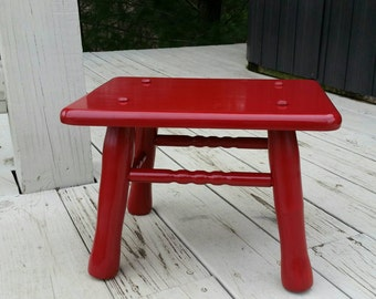 Unique Wood Foot Stool Related Items Etsy