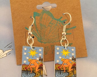 Tarot Card Nickel Free Earrings- The Star