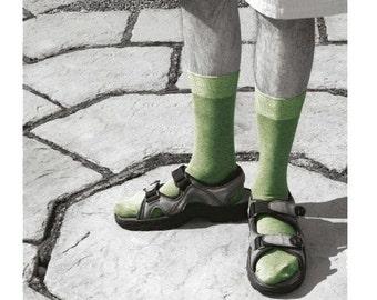 Funny Personalised birthday Card Socks & sandals