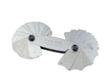 Proops Radius Gauge R 15.5 - 25mm, 32 leaves, Locking Screw, Internal, External, Toolmaking. (D8048) Free UK Postage