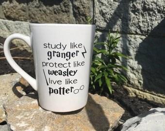 Study Like - Protect Like - Live Like - Harry Potter Mug
