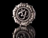 OHM NAMAH White Bronze Ear Tunnels - Plugs - Eyelets, plug, ear stretchers, ear tunnels, silver colour tunnels, tribal  eyelets (code 62A)