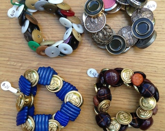 Statement Button Bracelets