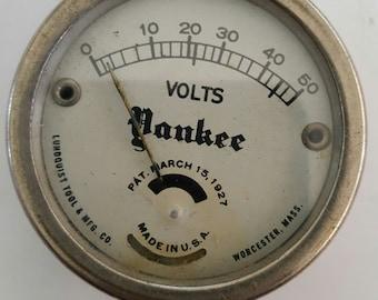 "Vintage ""Yankee"" voltage meter, battery tester, Lundquist Tool & Mfg Co. Worcester, Mass, 1927"