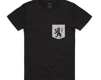 Lion Royalty Men's Pocket T-Shirt