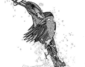 Kingfisher (A6) Original art