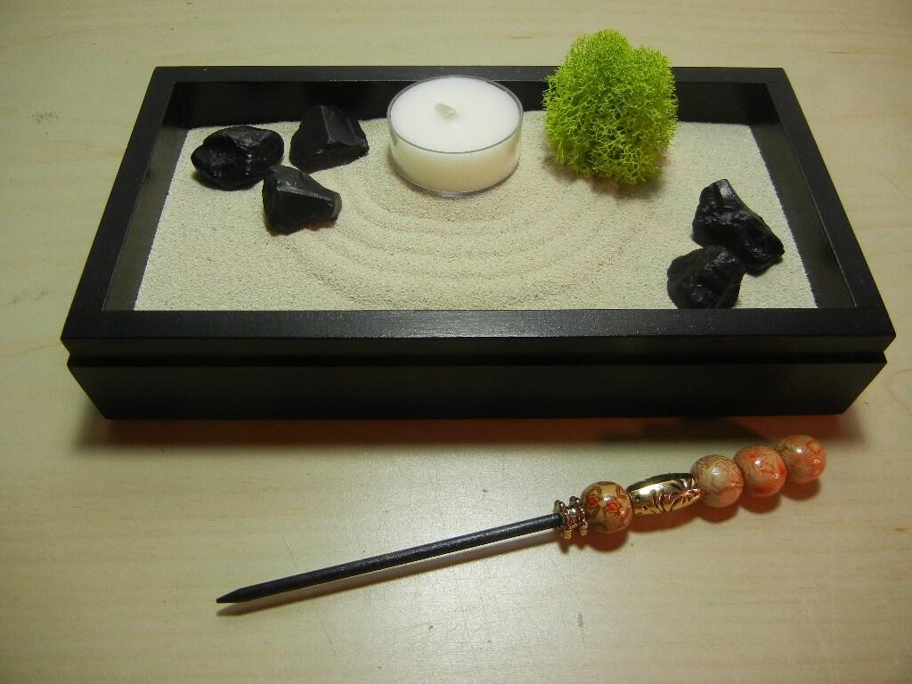 mini02 mini zen garden with tea light candle diy kit. Black Bedroom Furniture Sets. Home Design Ideas