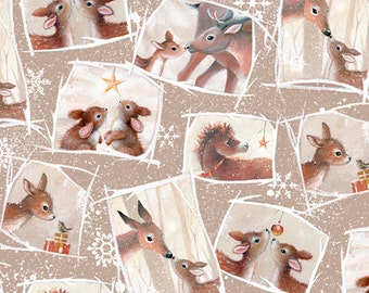 Woodland Wonder~Animals~ Cotton Fabric, Quilt,~Quilting Treasures~Fast Shipping N338