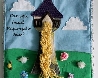 Rapunzel Tower Hair Braid Felt Quiet Book Princess Page PATTERN