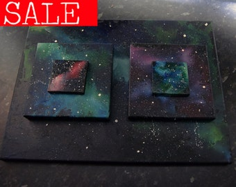 Galaxy Nebula Space Melted Crayon Art