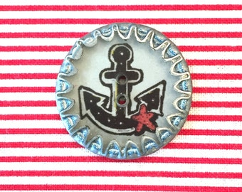Button crown corks anchor