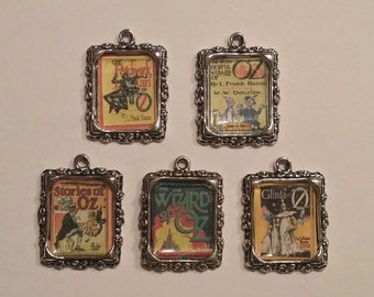 Five Tiny Oz Book Cover Charms