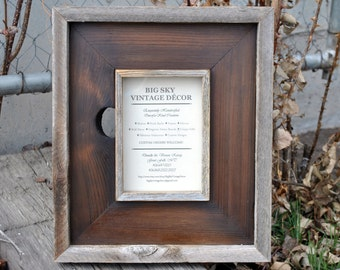 Rustic Picture Frame Reclaimed Salvaged Barn Wood Photo Frame FR1356