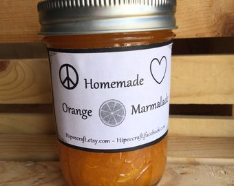 Homemade Orange Marmalade Organic Orange Marmalade Organic Homemade Jam Organic Artisan Jam