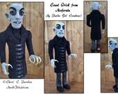 "Collectible Needle Felt Art Doll: Nosferatu, 13"" Tall, Hand Sculpted"