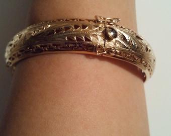 14k double phoenix bracelet