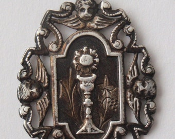 Superb Antique Religious Solid Silver Medal Dated 1900