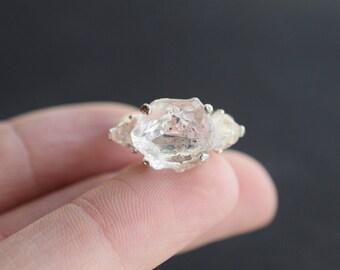 MADE TO ORDER Organic Unaltered Raw Diamond Engagement Ring Boho Wedding Band Alternative Engagement Ring Rustic Wedding Promise Ring Avello