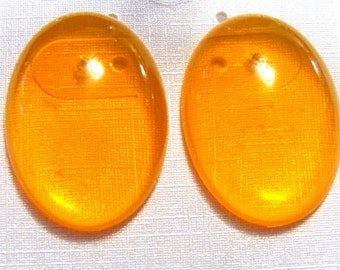 VINTAGE Lucite transparent Oval Earrings Pierced Assorted Colors Approx 1 inch