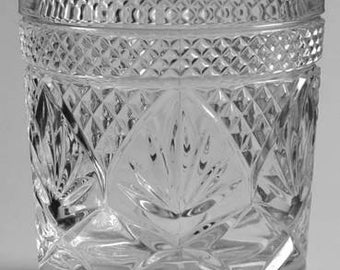 Cris D'Arques Durand Luminarc Clear Old Fashion Pressed Antique Clear Glass Short Tumbler