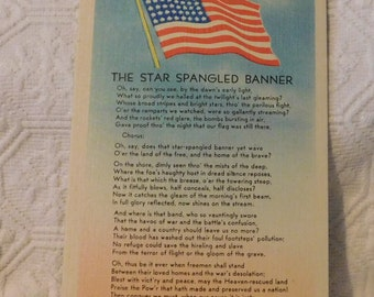 Vintage The Star Spangled Banner Postcard