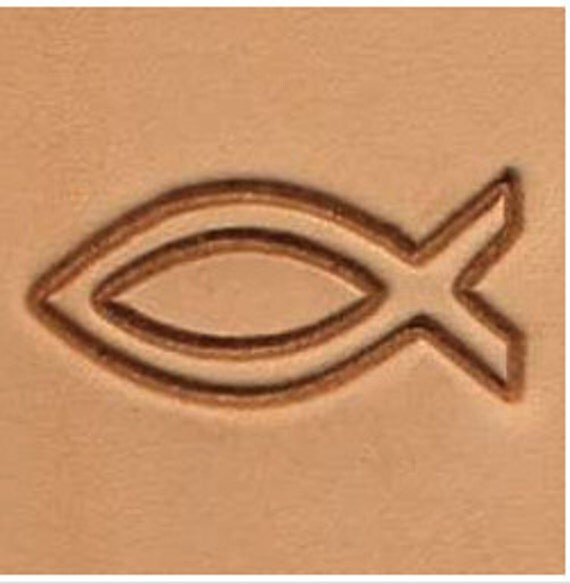 Religious symbol jesus fish leather stamp tool from for Fish symboled stamp